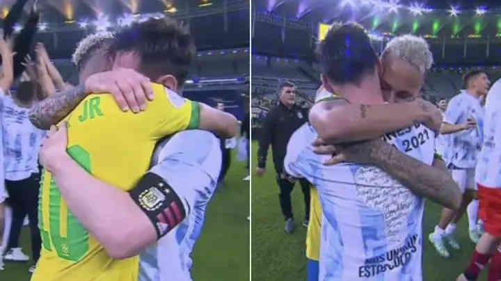 Messi and Neymar met passionately